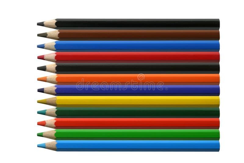 Lápis da cor fotos de stock royalty free