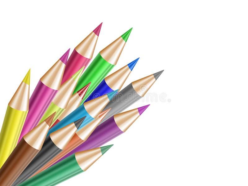 Lápis da cor ilustração do vetor