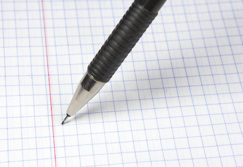 Lápis da escrita fotografia de stock