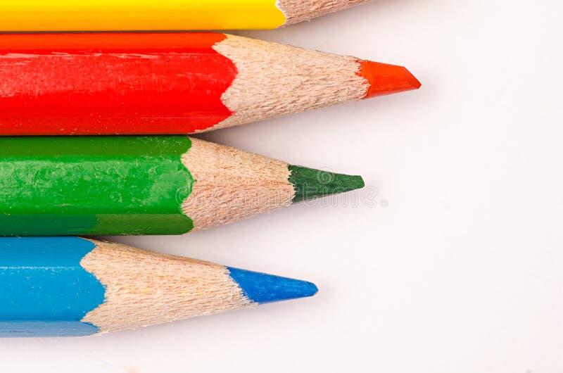 Lápis de madeira coloridos imagens de stock royalty free