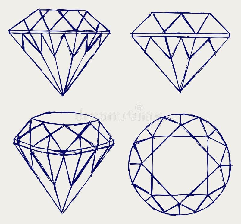 Download Lápis do esboço. Diamante ilustração do vetor. Ilustração de ícone - 26513751