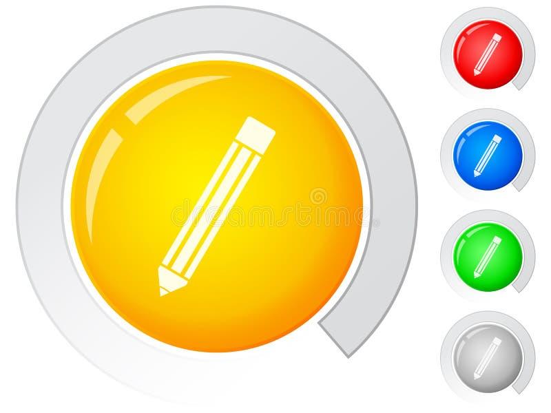 Lápis dos botões ilustração do vetor