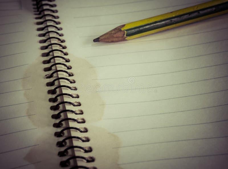 Lápis e caderno fotos de stock
