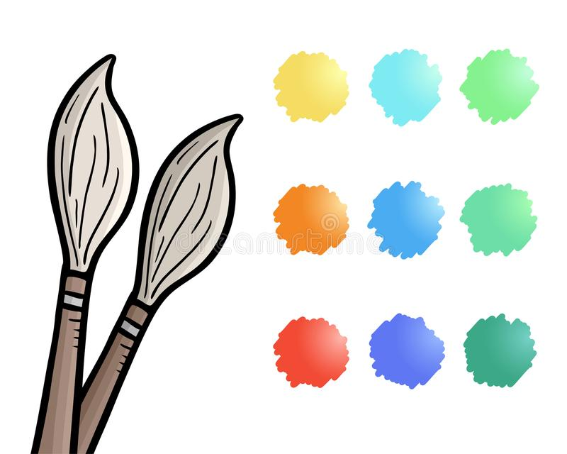 Lápis e cores ilustração stock