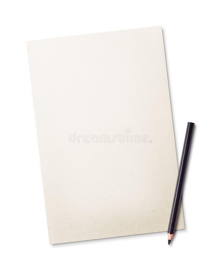 Lápis e papel fotografia de stock royalty free