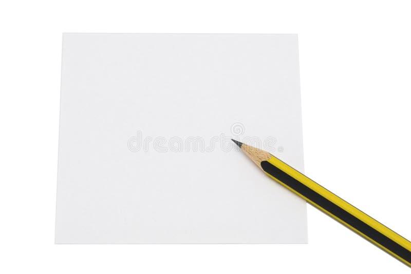 Lápis e papel foto de stock