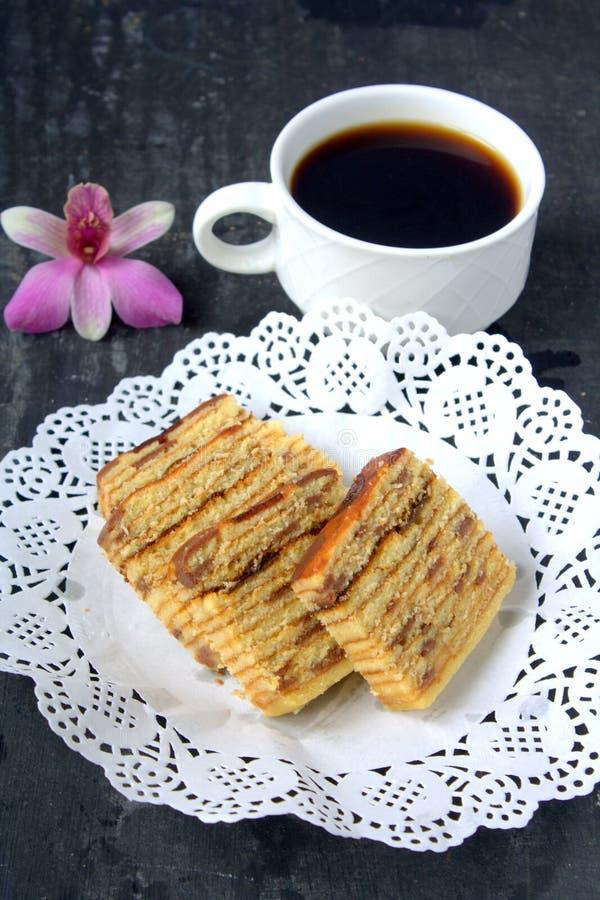 Lápis-lazúli de Kek, sobremesa malaia imagens de stock