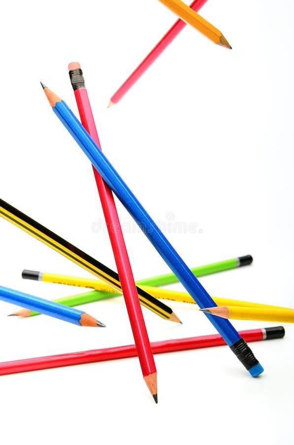 Lápis Multi-coloured fotografia de stock