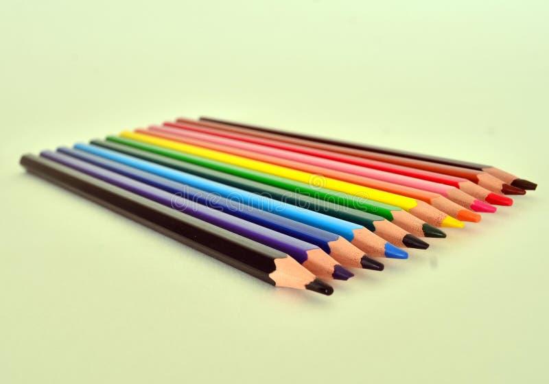 Lápis Multi-coloured foto de stock