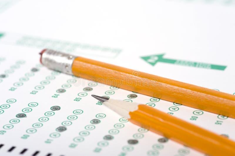 Lápis no exame imagens de stock