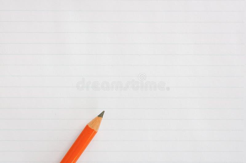 Lápis no papel fotografia de stock royalty free