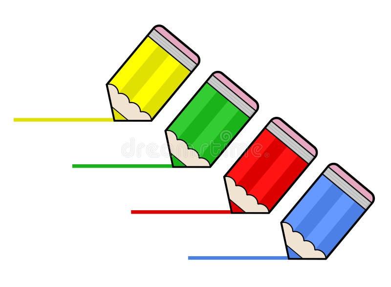 Lápis pequenos ilustração do vetor