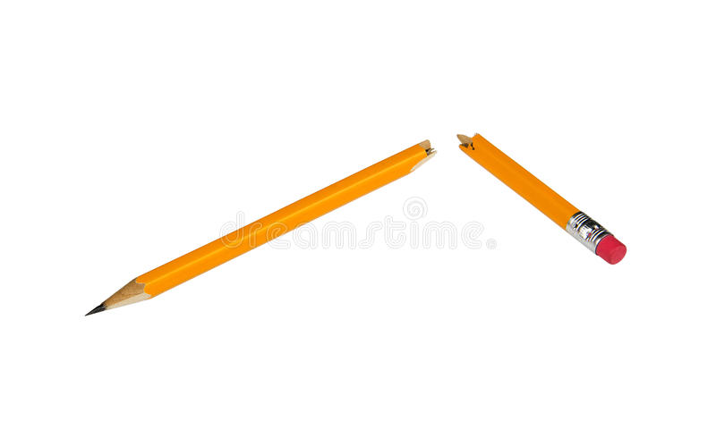 Lápis quebrado foto de stock