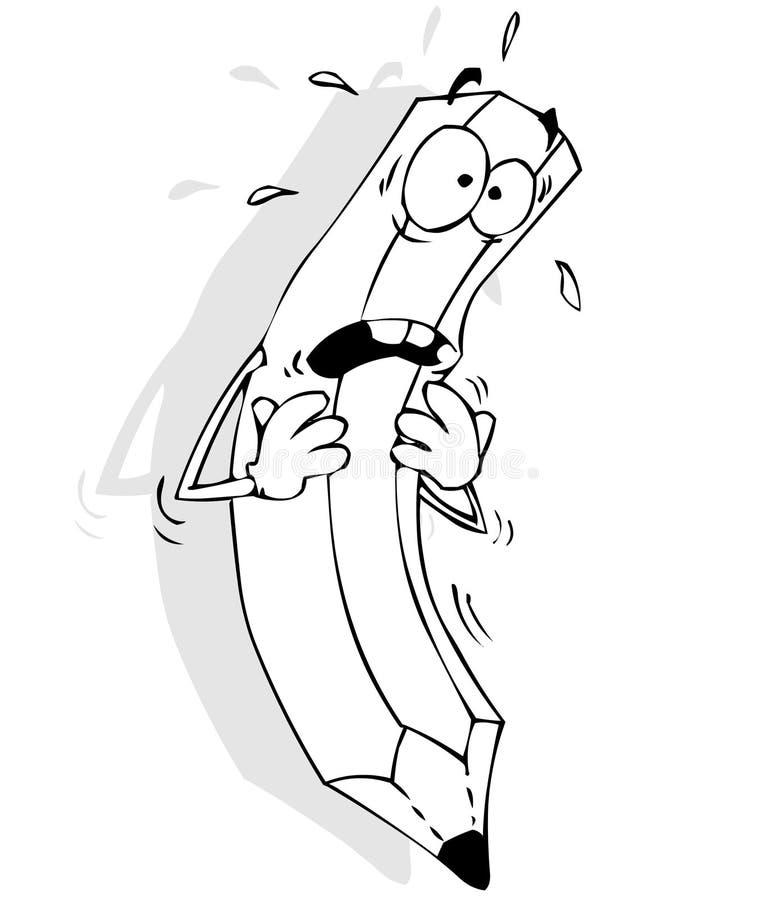 Lápis Scared ilustração do vetor