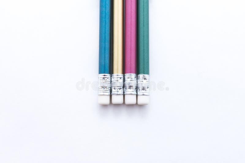 Lápis simples isolados no fundo branco imagens de stock
