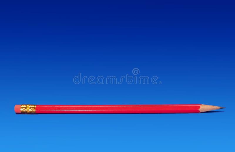 Lápis vermelho fotografia de stock royalty free