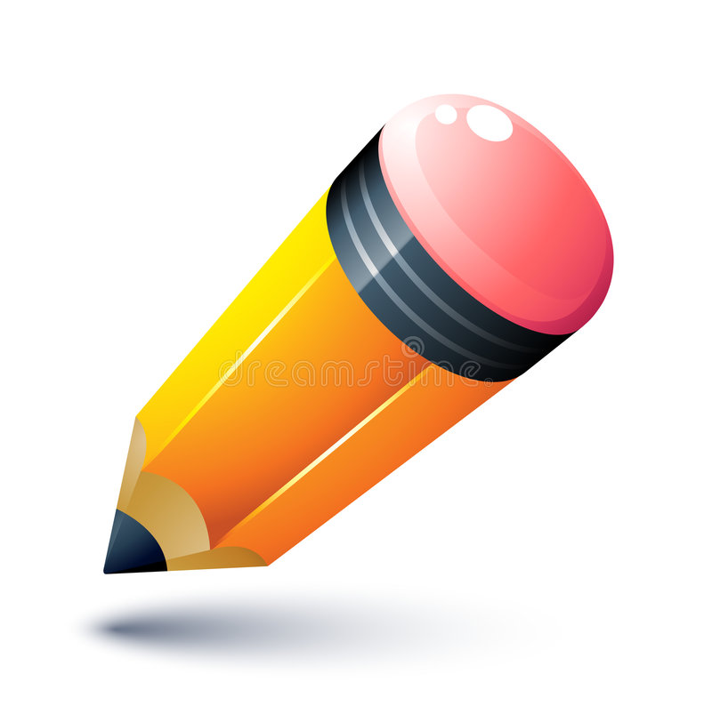 Lápiz amarillo ilustración del vector
