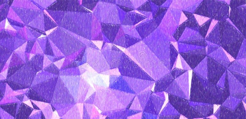 Lápiz azul marino y púrpura del color con el ejemplo grande del fondo de la cobertura ilustración del vector