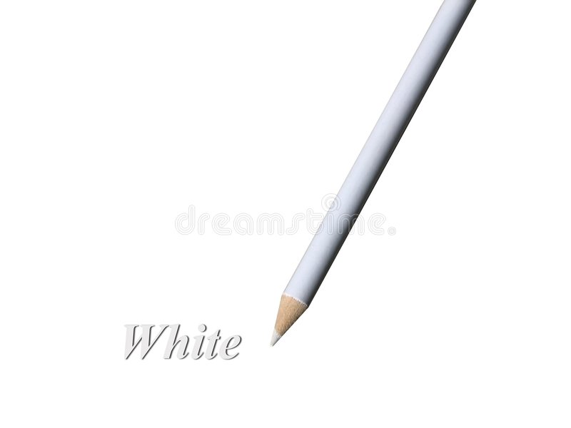 Lápiz blanco stock de ilustración