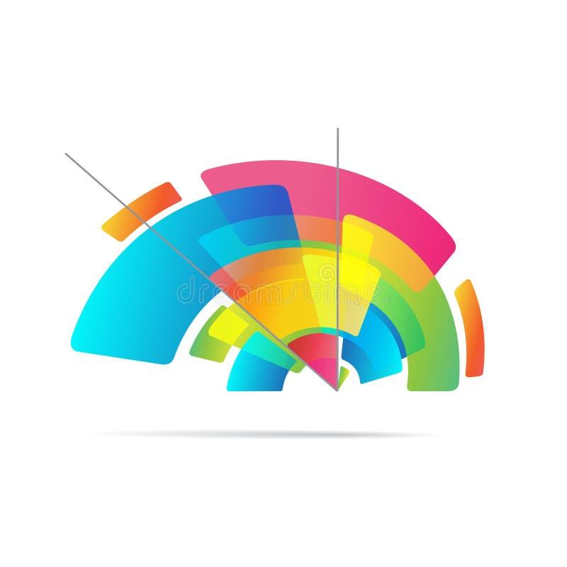 Lápiz creativo colorido aislado en el blanco, logotipo del vector ilustración del vector