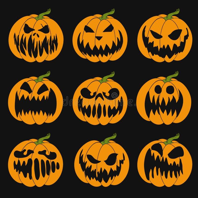 Lápiz de Halloween. Ilustración vectorial de la linterna de Jack-o' para tarjetas, pancartas stock de ilustración