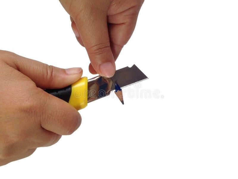 Lápiz de los sacapuntas por el cortador fotos de archivo libres de regalías
