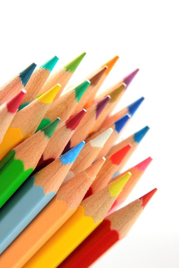 Lápiz de madera del color imagen de archivo libre de regalías