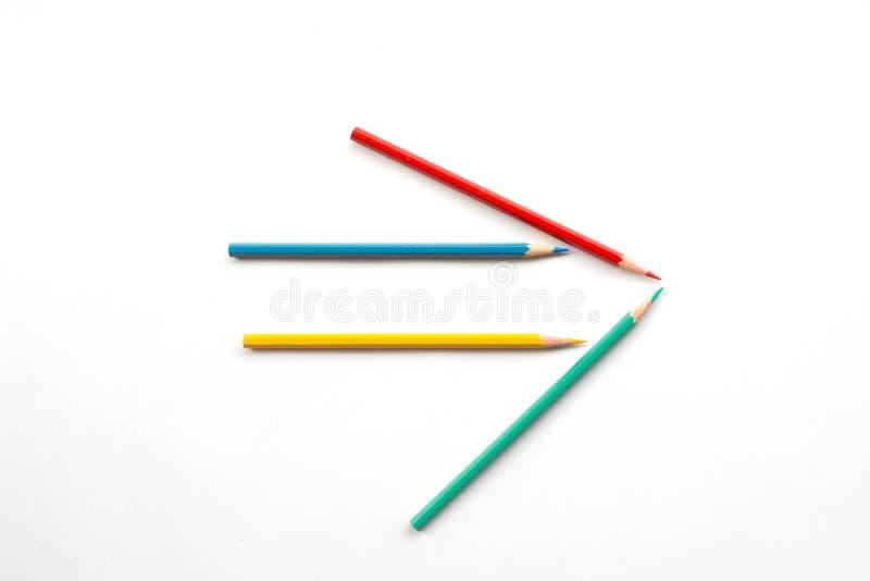 Lápiz del color como flecha foto de archivo libre de regalías
