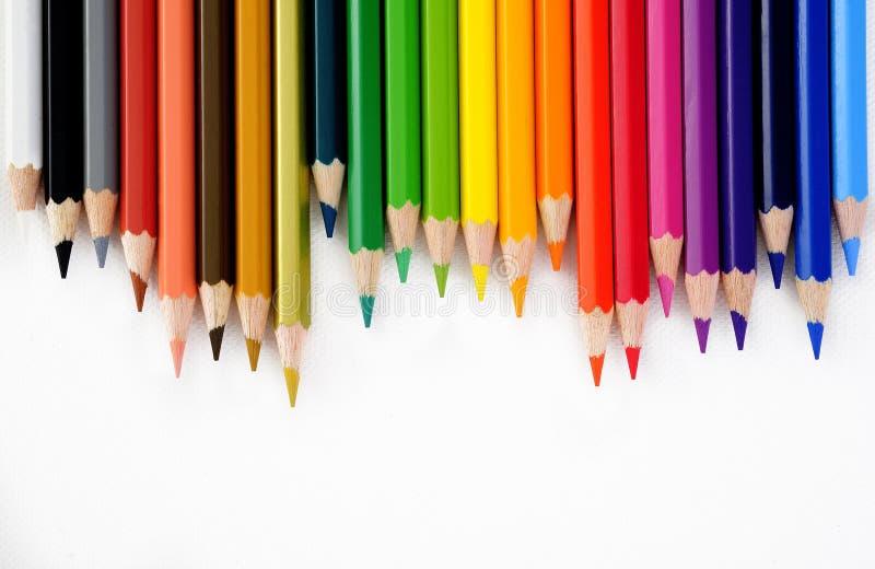Lápiz del color en blanco imagen de archivo