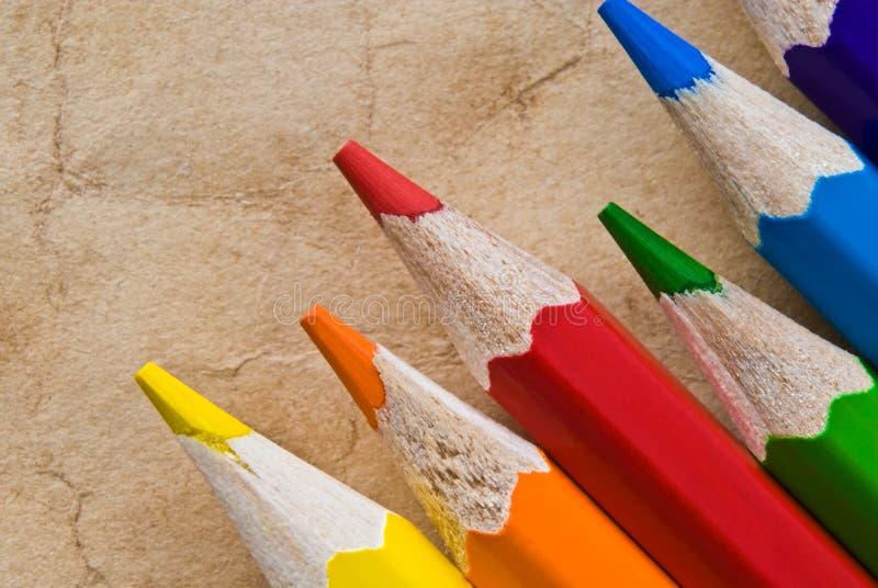 Lápiz del color en blanco imágenes de archivo libres de regalías