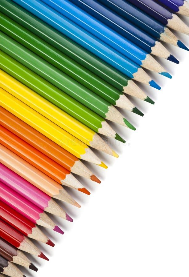 Lápiz del color en blanco fotos de archivo