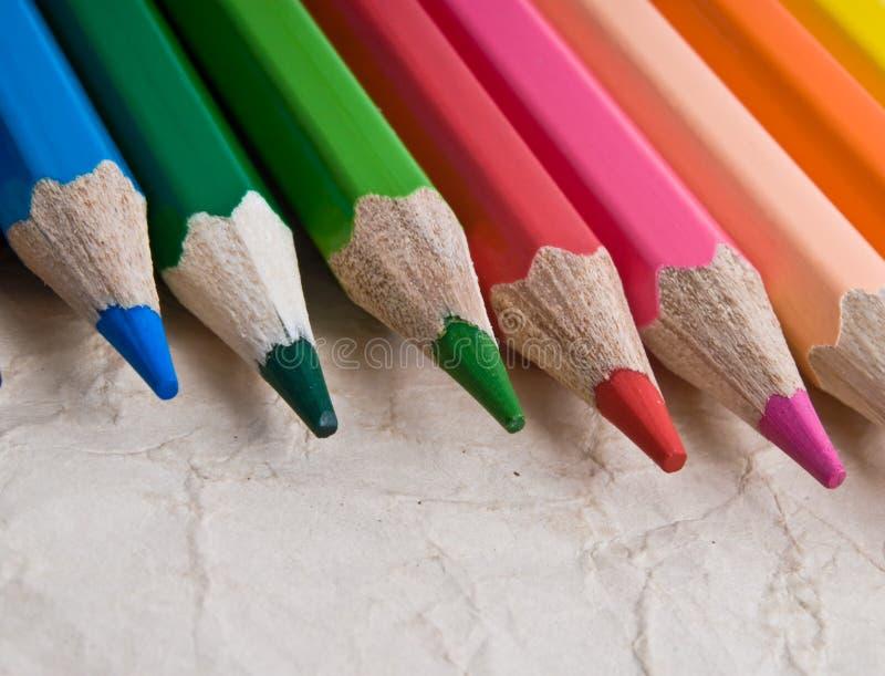 Lápiz del color en blanco foto de archivo libre de regalías