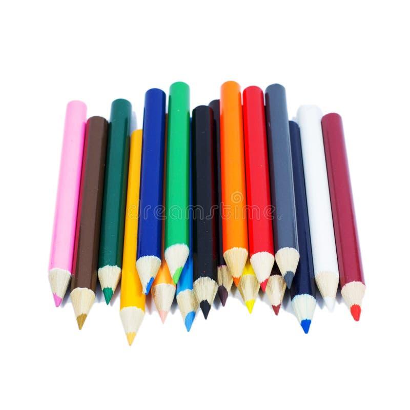 Lápiz del color que pone en blanco fotografía de archivo libre de regalías