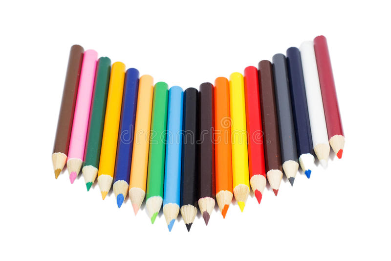 Lápiz del color que pone en blanco fotografía de archivo