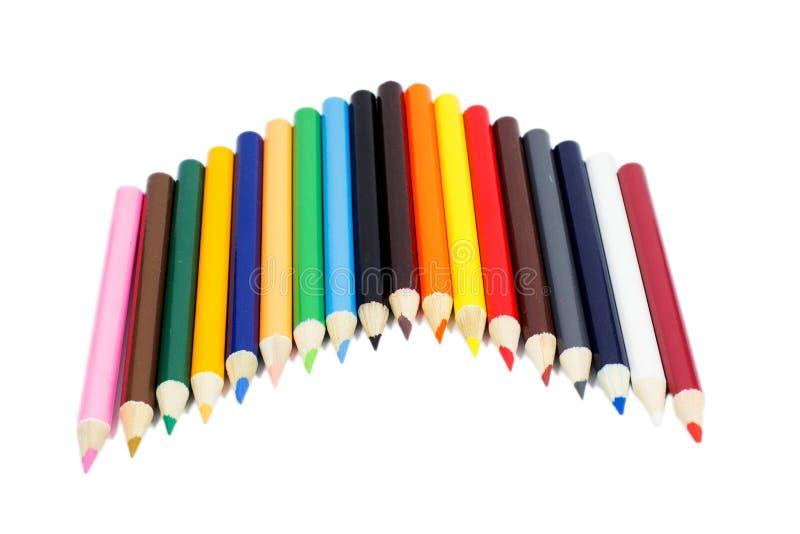 Lápiz del color que pone en blanco imágenes de archivo libres de regalías