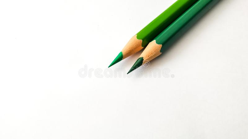 Lápiz del color verde fotos de archivo
