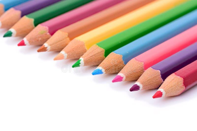 Lápiz en colores pastel colorido imágenes de archivo libres de regalías