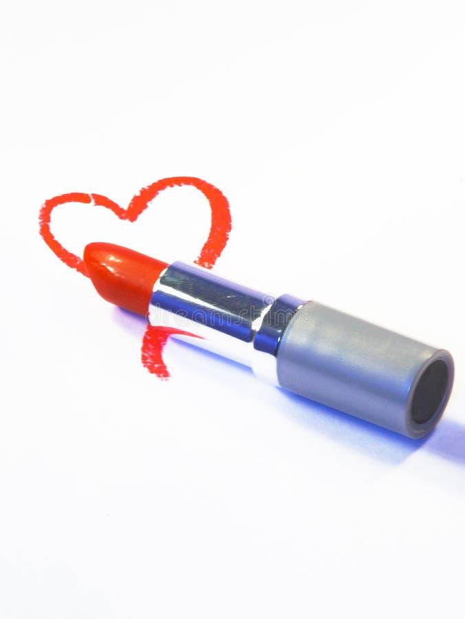 Lápiz labial del corazón fotografía de archivo libre de regalías