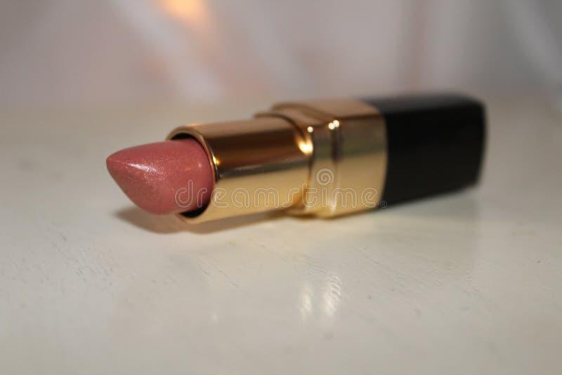 Lápiz labial rosado imagen de archivo