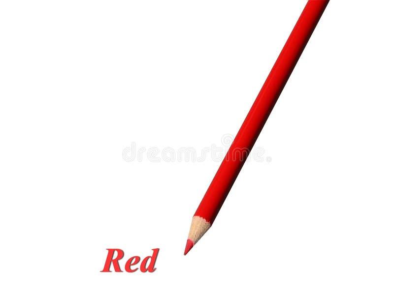 Lápiz rojo stock de ilustración