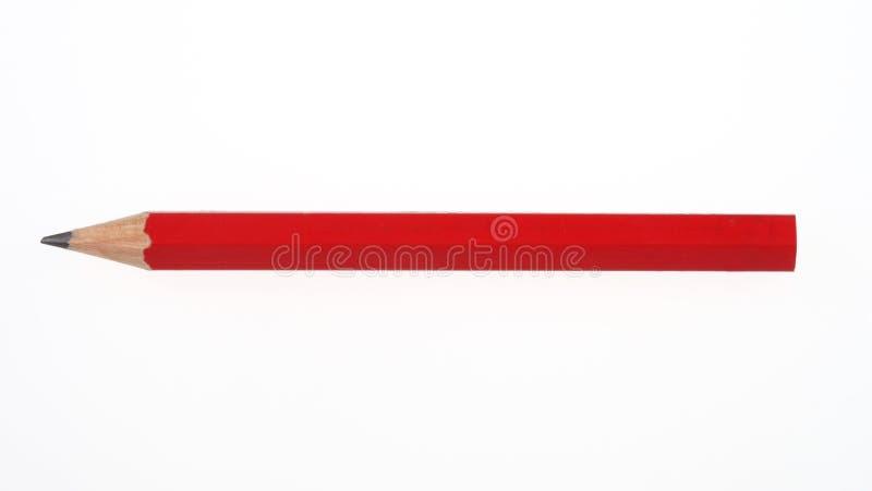 Lápiz rojo foto de archivo libre de regalías