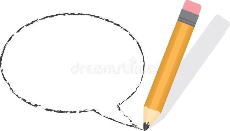 Download Lápiz Vacío De La Burbuja Del Discurso Ilustración del Vector - Ilustración de presentación, icono: 41902198