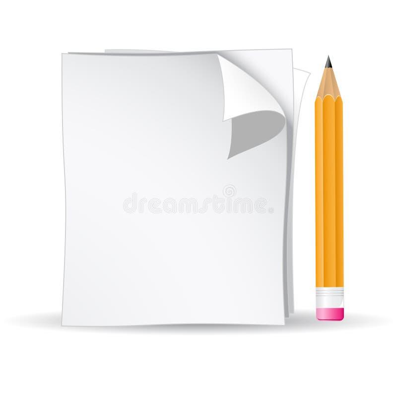 Lápiz y papel libre illustration