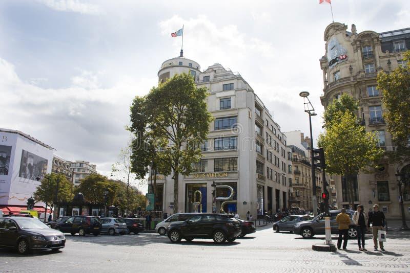 L'avenue DES Champs-Elysees in Paris, Frankreich stockfotografie