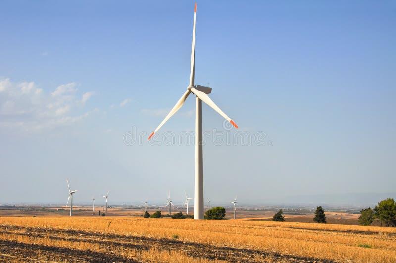 Lâmina do moinho de vento fotografia de stock