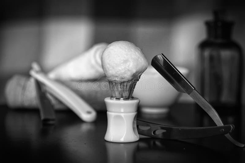 Lâmina que barbeia a lâmina dos acessórios fotografia de stock