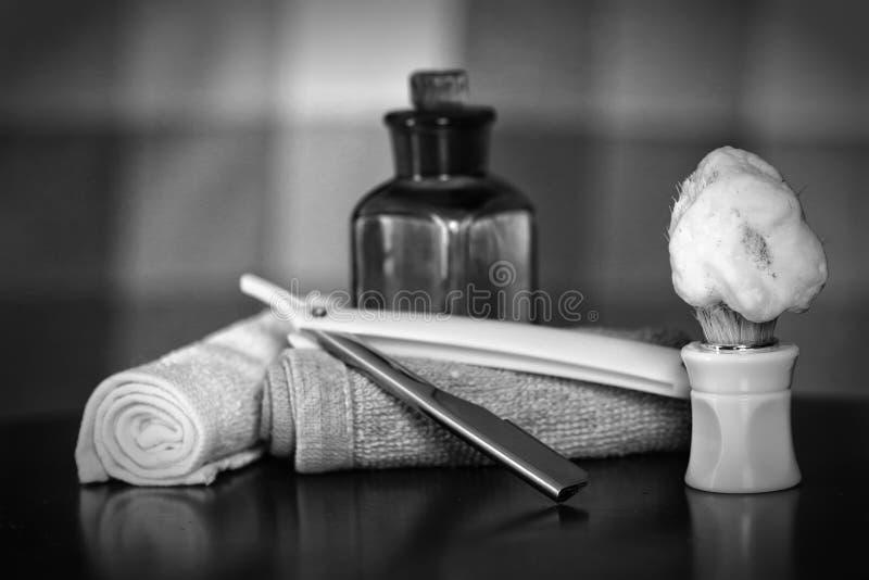 Lâmina que barbeia a lâmina dos acessórios fotos de stock royalty free