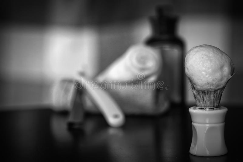Lâmina que barbeia a lâmina dos acessórios foto de stock royalty free