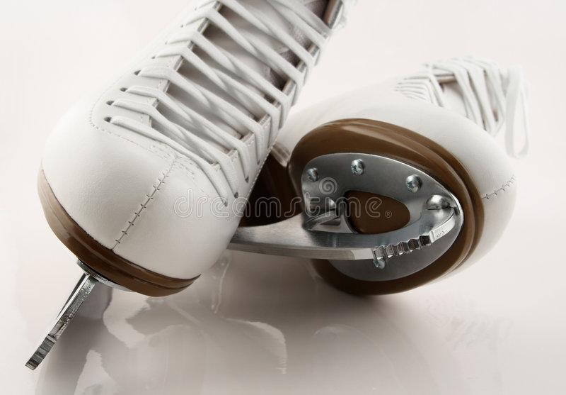 Lâminas da figura patins foto de stock