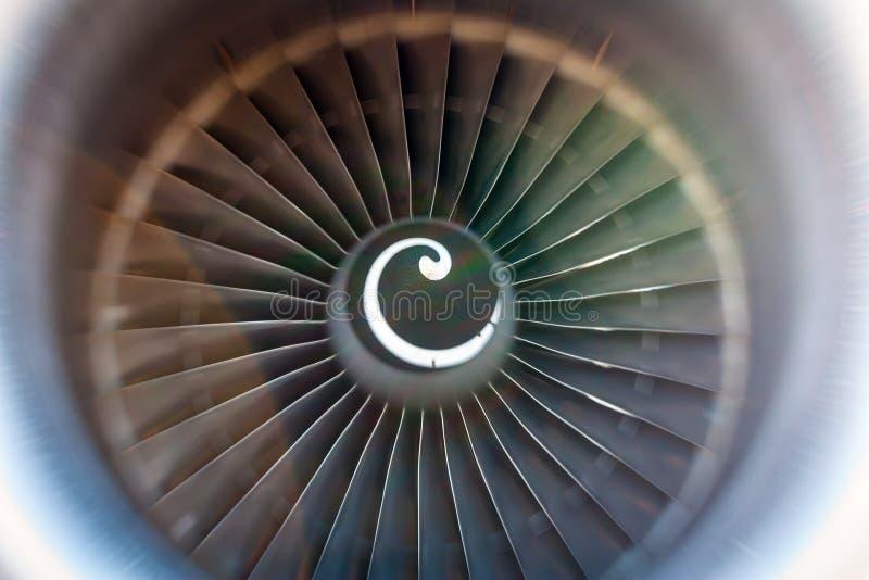 Lâminas de giro do turbojato imagens de stock